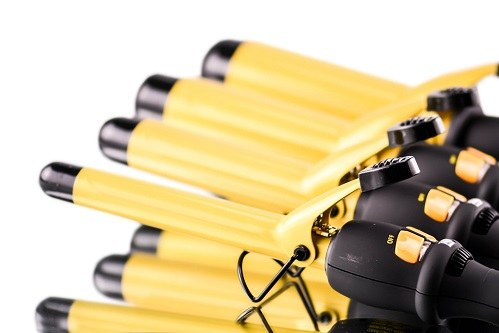 Yellow Ceramics On BaByliss Curling Irons