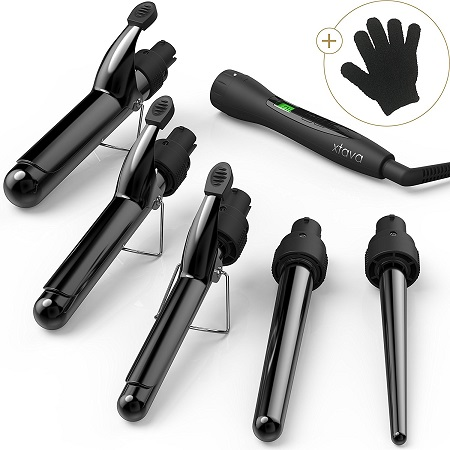 Curling Iron With Interchangeable Barrels