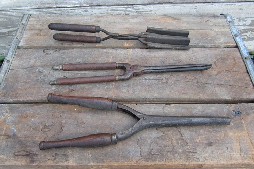 Three Old Curling Tongs